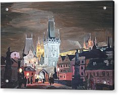 Prague Charles Bridge - Karluv Most Acrylic Print by M Bleichner