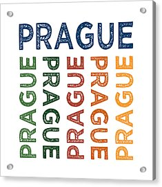 Prague Cute Colorful Acrylic Print