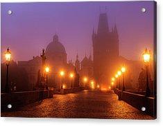 Prague, Czech Republic, Charles Bridge Acrylic Print by B&m Noskowski