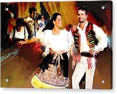 Prague Dancers Acrylic Print