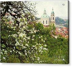 Prague In Bloom II Acrylic Print