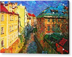 Prague Like Venice Acrylic Print