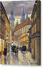 Prague Old Street Stupartska Acrylic Print by Yuriy Shevchuk