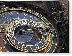 Prague Orloj Acrylic Print by Adam Romanowicz