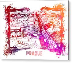 Prague Skyline Panorame Acrylic Print
