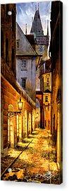 Prague Street Melantrichova Acrylic Print by Dmitry Koptevskiy