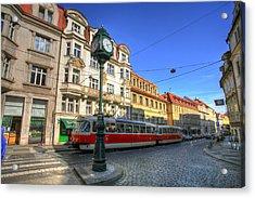 Prague Streetcar Acrylic Print