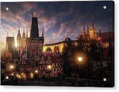 Prague Sun. Acrylic Print