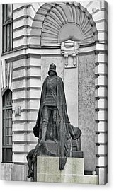 Prague - The Iron Man From A Long Time Ago And A Country Far Far Away Acrylic Print