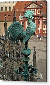 Prague - View From Castle Tower - 01 Acrylic Print by Gregory Dyer