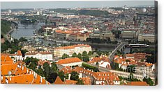 Prague - View From Castle Tower - 02 Acrylic Print by Gregory Dyer