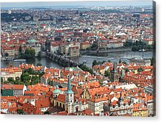 Prague - View From Castle Tower - 05 Acrylic Print by Gregory Dyer