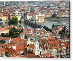 Prague - View From Castle Tower - 06 Acrylic Print by Gregory Dyer