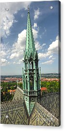 Prague - View From Castle Tower - 07 Acrylic Print by Gregory Dyer