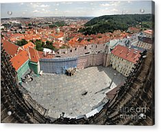 Prague - View From Castle Tower - 08 Acrylic Print by Gregory Dyer