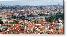 Prague - View From Castle Tower - 09 Acrylic Print by Gregory Dyer
