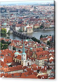 Prague - View From Castle Tower - 10 Acrylic Print by Gregory Dyer