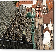Prague - View From Castle Tower - 11 Acrylic Print by Gregory Dyer