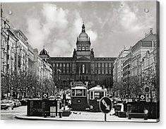 Prague Wenceslas Square And National Museum Acrylic Print