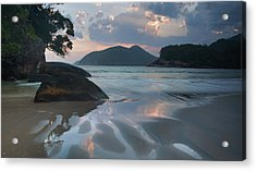 Praia Do Camburi At Sunset In Ubatuba Acrylic Print