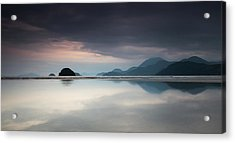 Praia Do Estaleiro With The Serra Acrylic Print