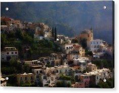 Praiano Amalfi Coast Acrylic Print by Hugh Smith