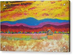 Prairie Autumn Acrylic Print
