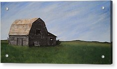 Acrylic Print featuring the painting Prairie Barn by Jesslyn Fraser