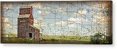 Prairie Panorama Acrylic Print by Judy Wood