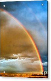Prairie Rainbow Acrylic Print by Ellen Heaverlo