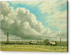 Prairie Sky Acrylic Print by Paul Krapf