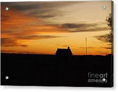 Prairie Sunset Acrylic Print by Mary Carol Story
