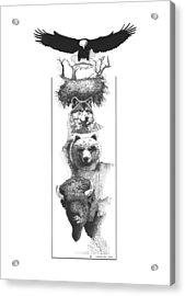 Prairie Totem Acrylic Print by Paul Shafranski