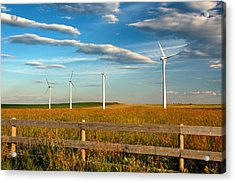 Acrylic Print featuring the photograph Prairie Wind 1 by Trever Miller