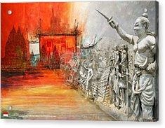 Prambanan Temple Compounds Acrylic Print by Ctaf