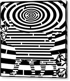 Prancing Kitty Cat Maze Acrylic Print by Yonatan Frimer Maze Artist