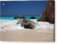 Praslin Island Waves Acrylic Print