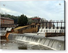 Acrylic Print featuring the photograph Prattville Dam Prattville Alabama by Charles Beeler