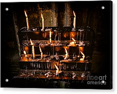 Prayer Candles Acrylic Print by Adrian Evans