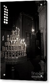 Acrylic Print featuring the photograph Prayer Candles by Aiolos Greek Collections