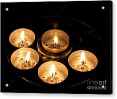Prayer Candles In Notre Dame Acrylic Print