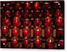 Prayer Candles Acrylic Print by Suzanne Stout