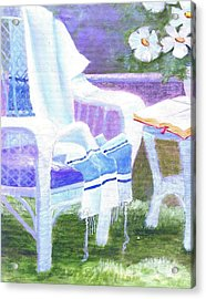 Prayer Chair Acrylic Print