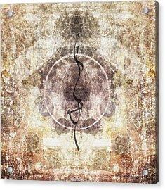 Prayer Flag 26 Acrylic Print by Carol Leigh