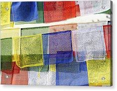 Prayer Flags Acrylic Print