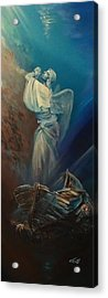 Prayer For The Seas Acrylic Print by Ottilia Zakany