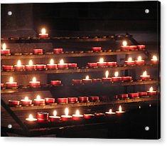 Prayer Lights Acrylic Print