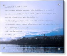 Prayer Of St. Francis Of Assisi Acrylic Print