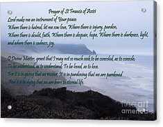 Prayer Of St Francis Of Assisi Acrylic Print
