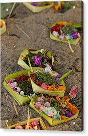Prayer Offerings - Bali Acrylic Print